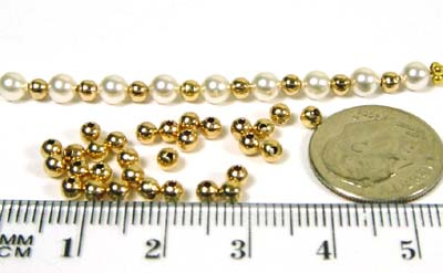 3mm round BEADS Pack of 100 Gold Filled seamless