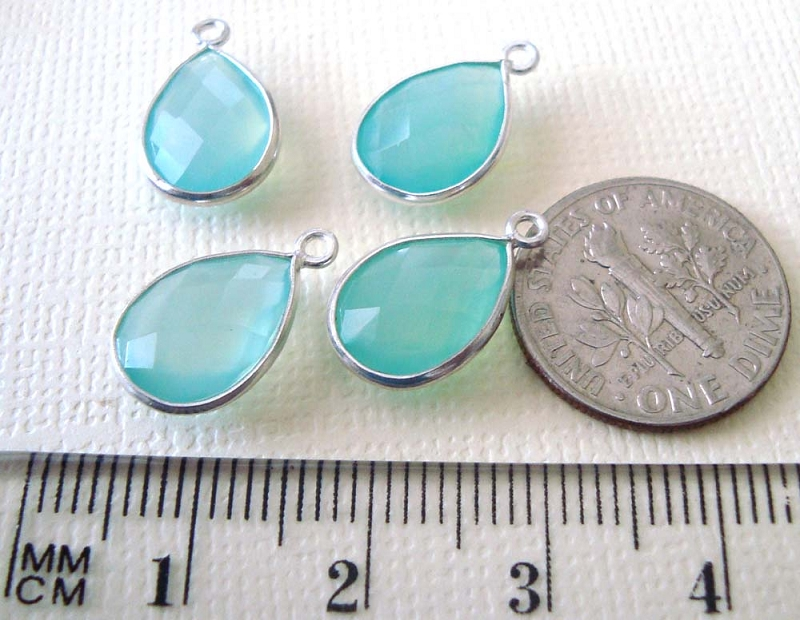 bezel stone charms and connector