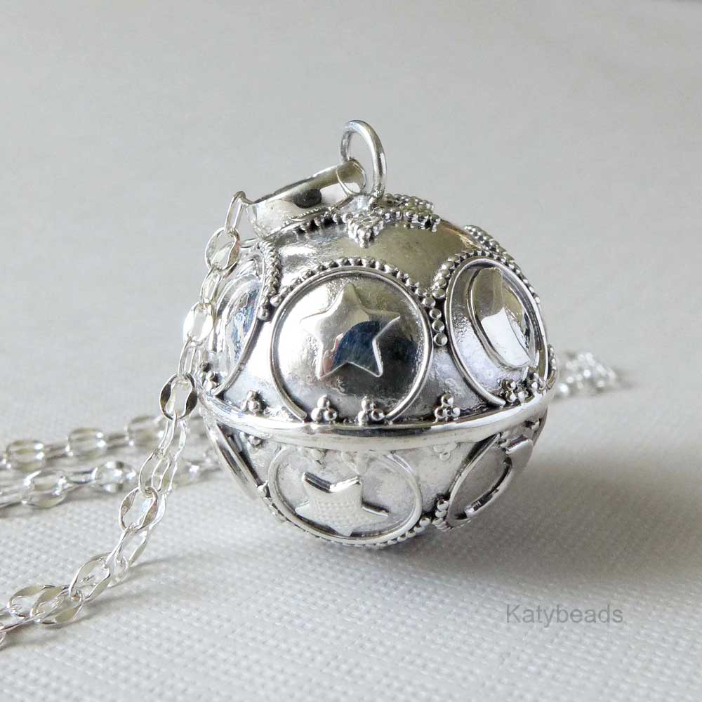 21mm moon and star bali sterling silver harmony ball pendant hm73 home harmony balls pendants 21mm moon and star bali sterling silver harmony ball pendant hm73 aloadofball Gallery