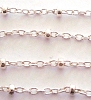 1mm x 1.5mm Sterling Silver  cable Chain with bead by Foot CH31