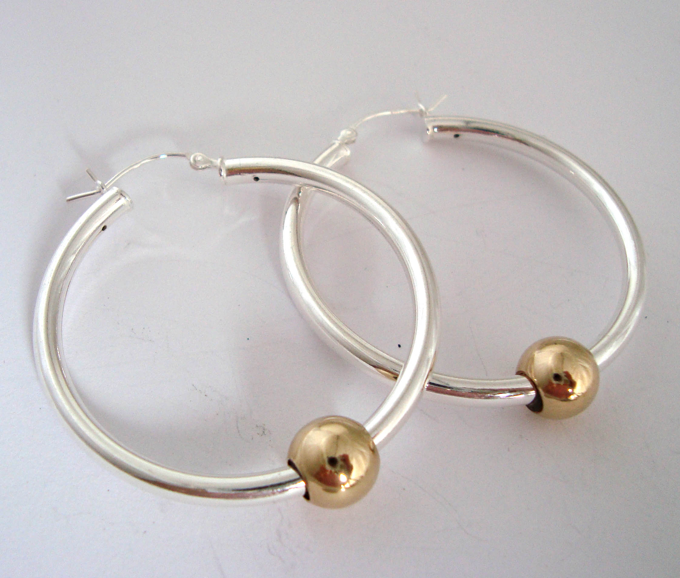 silver sterling balinese hoop dp jewellery earrings com beaded amazon jewelry