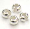 4mm Sterling Silver Crimp Bead Cover (50pcs/pk)