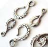 29mm Bali stelring silver hook clasp F51