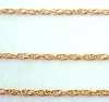 1mm 14K yelow Gold Filled ROPE Chain by foot (1 foot) Gch40