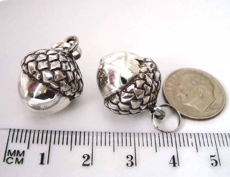 16mm sterling silver harmony ball acorn pregnancy maternity charm 16mm sterling silver harmony ball acorn pregnancy maternity charm pendant hm49 aloadofball Image collections