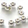 3mm Sterling Silver Seam Bead S031  (100pcs/pk)