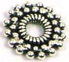 12mm Snowflake sterling silver spacer (4pcs/pk)