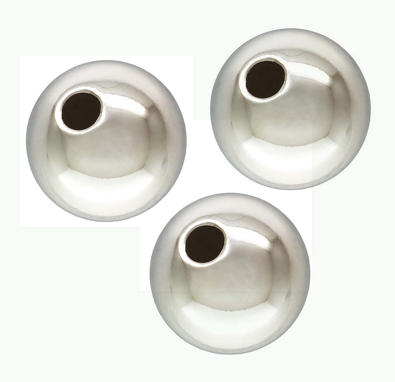 10mm Sterling Silver Round Seamless Bead (5pcs/pk) S70