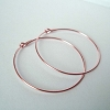 20mm 14k ROSE Gold Filled round beading hoop earring ear wire (5 pairs) RE15