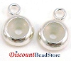 7mm Sterling Silver charm holder Bead blocker stopper w/ 3mm hole (5pcs)  BB19