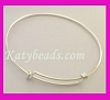 solid 925 Sterling silver Charm Bangle Bracelet free size adjustable expendable from 6