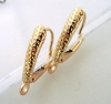 14k solid Gold hammered dot pattern shield lever back leverback Ear Wire 2pcs GGE02