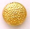 9.5mm gold plated silver Round Flat Hammered Bead  VB39