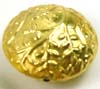 18mm gold plated silver Hammerred Tree/leaf bali Bead VB48