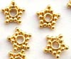 5.5mm  gold plated silver 24K gold Plated Star Spacer  (50pcs) VS03