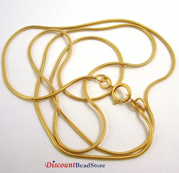 16' 1mm 14k gold filled Snake Chain Necklace gch13