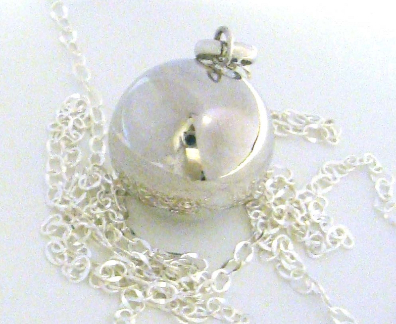 16mm Sterling Silver Harmony Ball Mexican bola Pregnancy baby necklace 36
