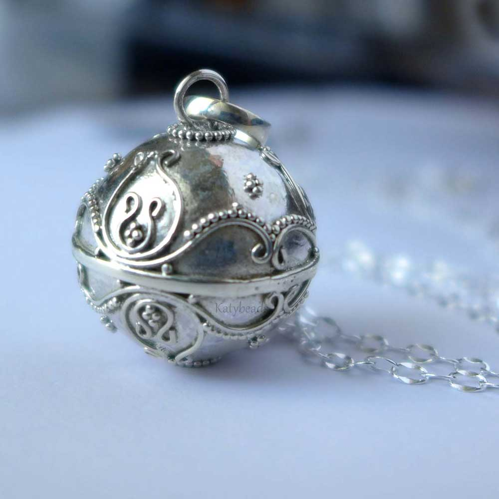 19mm Sterling Silver Harmony Ball Pendant HM72-19