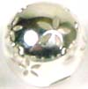 8mm Sterling Silver Perforated Flower Bead B112