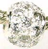 10mm x 8mm CZ Sterling Silver Bead B125