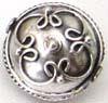 12.5mm x 12mm x 10mm Sterling Silver bead B131