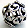 13mm x 12mm Sterling silver Bali filigree Bead B154