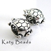 13mm x 8mm Sterling Silver turtle bead charm B205
