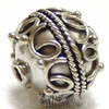 12mm x 11mm Sterling Silver Bali Bead B021