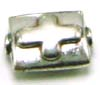 10mm x 8mm x 5mm Sterling Silver Bali bead