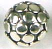 8mm x 8mm  Sterling Silver Bali Bead B040