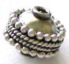 8.5mm x 8mm Sterling Silver Bali Bead B042