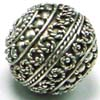 15mm x 16mm Huge Sterling Silver Bali Bead B049