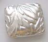 Sterling Silver Pillow Leaf Bead 16mm x 14mm x 6mm B057