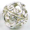 9mm Filigree heart design Sterling Silver Bead B63
