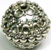 12.5mm x 13.5mm Sterling Silver Bali Bead B067
