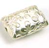 14mm x 9mm Flower Bar Sterling Silver Bead B083