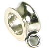 9mm x 12mm  x 5mm  Sterling Silver charm holder D17