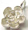 9mm x 13mm sterling silver  flower Dangle Charm D36