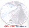 14mm Sterling Silver  Brushed Round disk Dangle (4pcs/pk) D52