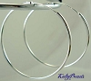 16mm Sterling Silver endless hoop earrings (10pcs) E63
