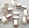 4mm x 4mm sterling silver crimp bead tube (30pcs) F40