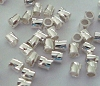 2mm x 2mm twisted tube spacer crimp bead (100pcs/pk) F41