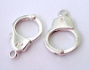 Sterling silver Handcuff trigger Clasp charm for necklace bracelet 1 pair F99 20.5mm x 14mm