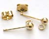3mm Gold Filled Ear post, w/loop & round ball (5 pair) GE7