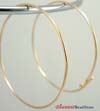45mm 14k Gold Filled round beading hoop earring ear wire (5 pairs) GE10