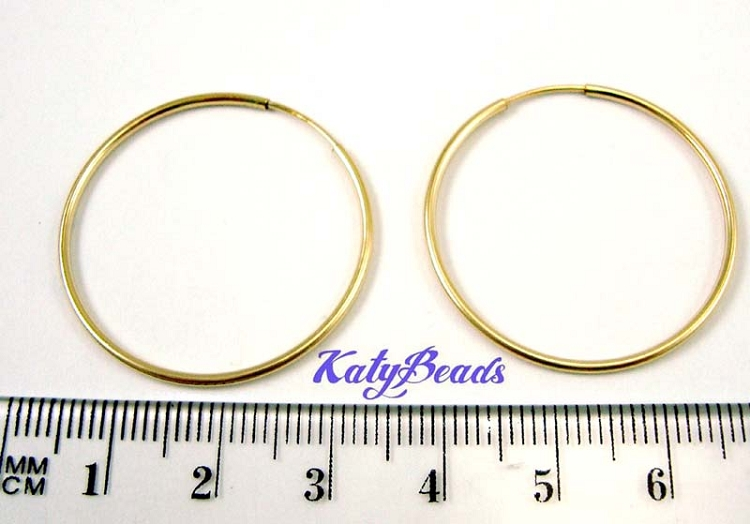 31mm 14k Gold Filled round Endless hoop earring ear wire GE14