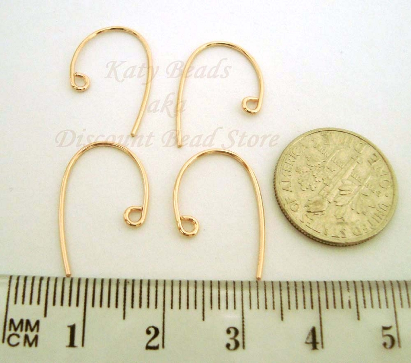 20.5 gauge yellow Gold filled Base clef  earring wire