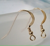 21 gauge Gold filled flatten earring wire with 2.3mm round bead and coil