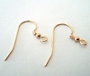21 gauge Gold filled earring wire with 2.3mm round bead and coil
