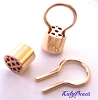 14k gold filled The Magic Finding multi-strand connector divider crimp bead  & Omega Insert (4 sets GF26